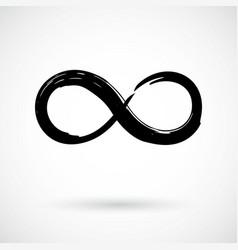 infinity symbol grunge brush stroke vector image