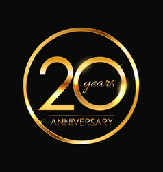 template 20 years anniversary vector image