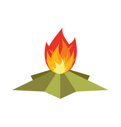 Eternal flame memorial 9 may symbol of victory in vector