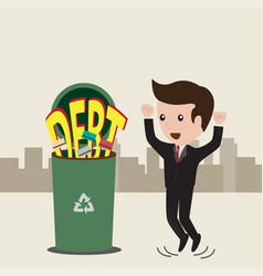 businessman no debt debt concept business man vector image