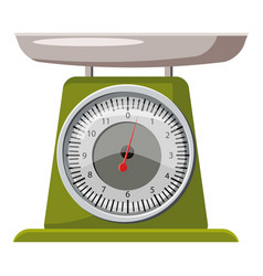 Domestic weigh scales icon cartoon style vector