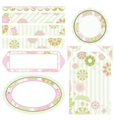 Set of elements for design Collection for Mom vector image