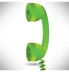 Green handset vector