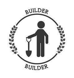 builder icon vector image