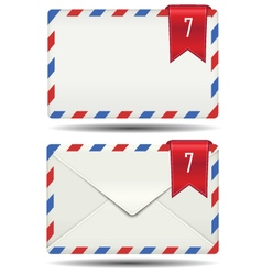 Strip closed mail box alert icon vector