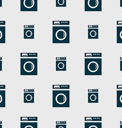 Washing machine icon sign seamless abstract vector