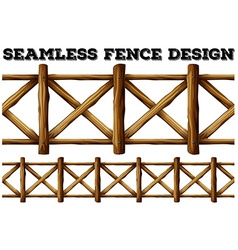 Fence design with wooden fence vector