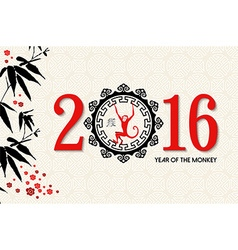 Chinese new year 2016 ape label nature card vector