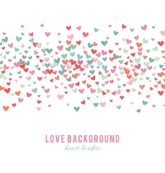 Romantic pink and blue heart background vector