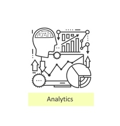 Modern thin line of icons analytics vector