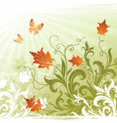 Floral decorative vector