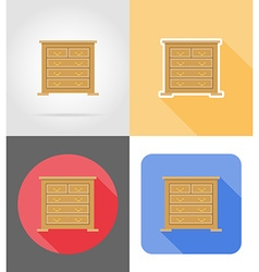 Furniture flat icons 03 vector