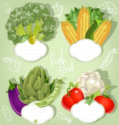 Vegetarian menu banners with the field for your vector