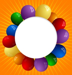 Abstract sunny background with color balloons vector image vector image