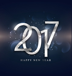 Beautiful 2017 happy new year design in silver vector