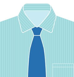 Blue Shirt and Tie vector image