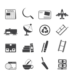 Business and industry icons vector image