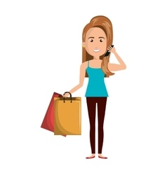 businesswoman character isolated icon vector image