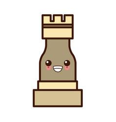 chess game piece kawaii cute cartoon vector image