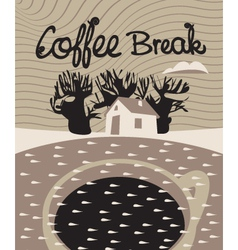 Coffee dream vector