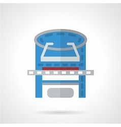 Colored xray machine flat icon vector