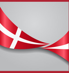 danish wavy flag vector image
