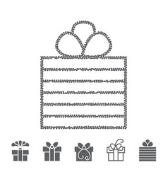 Dotted gift box vector
