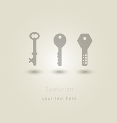 evolution of keys vector image vector image
