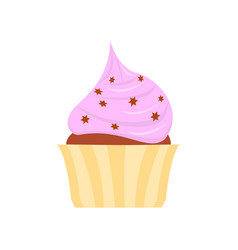 flat icon cake vector image