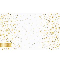 Golden stars on a white background vector