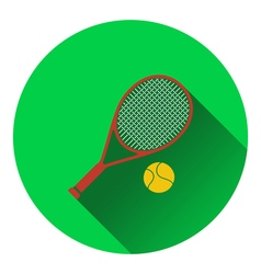 Icon of Tennis rocket and ball vector image