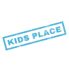 Kids place rubber stamp vector