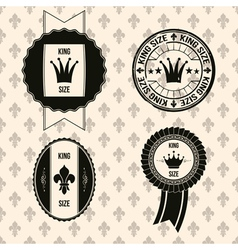 King royal labels vector