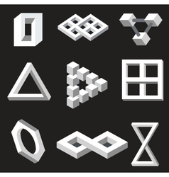 Optical symbols vector image vector image