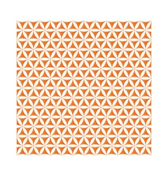 Orange flower of life sacred geometric background vector
