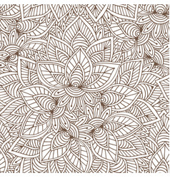 ornamental indian pattern seamless texture for vector image vector image