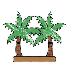 palms trees isolated vector image vector image