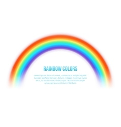 rainbow on white background vector image