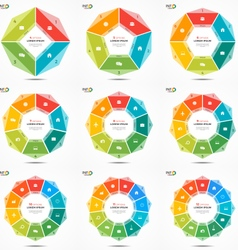 Set of colorful infographic templates with circle vector