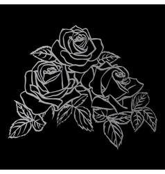 Silver Rose sketch vector image