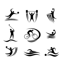 Sports icons and symbols vector