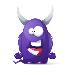 terrible cute monster - cartoon characters vector image vector image