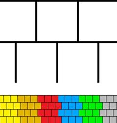 Wall templates vector