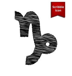 Zodiac sign capricorn with pen effect vector