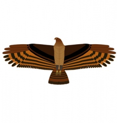 Hovering eagle vector