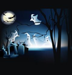 Halloween ghosts vector image