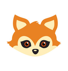 Red fox with triangular ears carnival mask vector