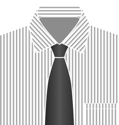 Grey tone shirt and tie vector