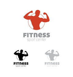 Fitness sport center logo vector