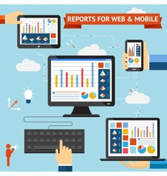 Reports for web and mobile vector